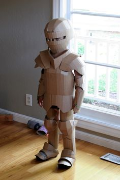 DIY Shows How to Make Your Kid a Cardboard Knight in Armor