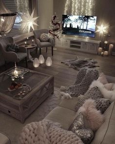 salon moderne pour 2017 Living Room Decor Cozy, Bedroom Decor, Bedroom Ideas, Living Room Mood Lighting, Cozy Bedroom, Bedroom Themes, Living Toom Ideas, Gray Room Decor, Cosy Grey Living Room