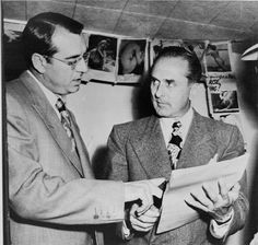 Frank DeSimone (left) with Johnny Roselli.