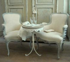 A Pair of French Fauteuils in Furniture from Appley Hoare