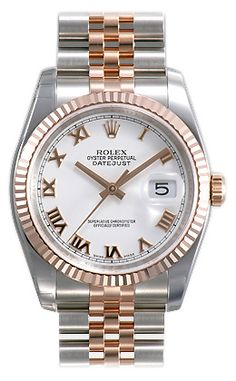 New at FMJ!! 18K Rose Gold and stainless steel Rolex Datejust!!