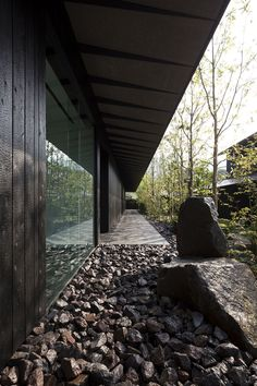 kengo kuma completes comico art museum complex in japan Black Architecture, Landscape Architecture Model, Architecture Design, Museum Architecture, Landscape Plans, Japanese Architecture, Sustainable Architecture, Landscape Design, Ancient Architecture