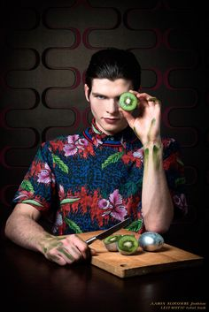 The 'Eating Arcimboldo' Editorial Highlights Printed Men's Fashions #menswear trendhunter.com