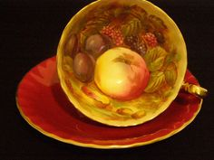 Ravishing Red #Aynsley Fruit #Teacup and #Saucer by TheTeacupAttic, $79.99