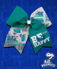 Peanuts - Charlie Brown & Snoopy Be Happy hair bow