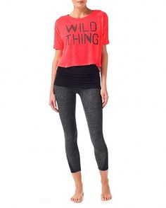 Practice S/Slv Yoga Tee - FluroRed | T-shirts | Sweaty Betty