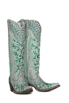Double D Ranchwear Almost Famous by Old Gringo~ Vintage Ice Western Wear, Western Boots, Blue Cowboy Boots, Country Boots, Country Outfits, Tall Cowgirl Boots, Rodeo Boots, Cowgirl Tuff, Gypsy Cowgirl