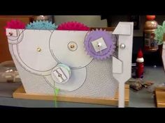 Gears and Gravity: Cereal Box Clock - YouTube