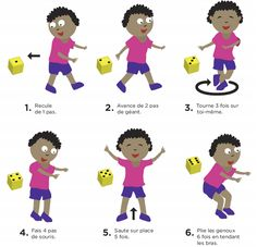 On bouge avec le dé Movement Activities, Gross Motor Activities, Gross Motor Skills, Sports Activities, Physical Activities, Activities For Kids, Baby Gym, Music And Movement, Activity Games