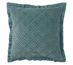 Washed Velvet Silk Quilt & Sham #potterybarn