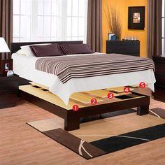 34 Best Bed Frames images | Platform bed, Bed Frame, Full bed frame
