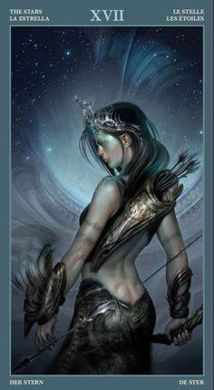 The Star - Barbieri Tarot Fantasy Warrior, Fantasy Art, Fantasy Life, Character Design References, Character Art, Fantasy Characters, Female Characters, Star Tarot, Serpieri