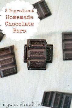 3 Ingredient Chocolate Bars