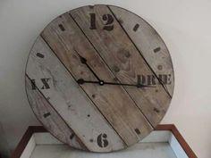 Tik tok wooden clock. #handmade by leeuw-design