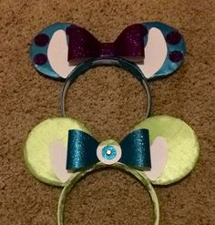 DIY: mike and sully Micky ears Girl Halloween, Halloween Costumes For Girls, Cool Costumes, Costume Ideas, Girl Superhero Costumes, Super Hero Costumes, Disney Costumes, Mike And Sully Costume, Micky Ears