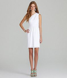 78e7ea644617 Vince Camuto One-Shoulder Pleated Dress