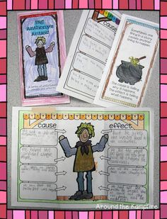 Teaching With Tomie dePaola Books Part 3: The Strega Nona Series cause and effect | Around the Kampfire