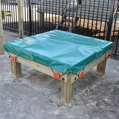 The Yarmouth Sand Box is a low level foundation stage sand/water tray complete with flexible cover. Great, clean and safe playground fun for a variety of ages.