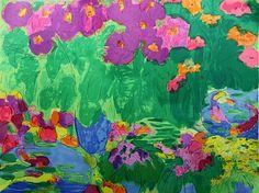 丁雄泉 - 桃和鮮花