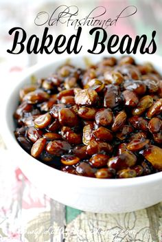 Old Fashioned Baked Beans Recipe, so yummy...you have to try these, you can make them in the slow cooker too!