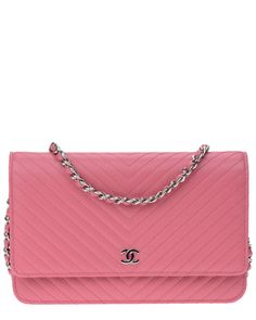 Spotted this Chanel Pink Caviar Leather Chevron Wallet on Chain on Rue La La. Shop (quickly!).