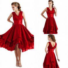 Rot Kurz Cocktailkleider Abendkleider Ballkleider Partykleid Gr.36 38 40 42 44 | eBay