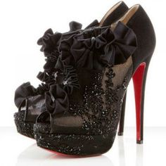 Christian Louboutin Margot 150mm Booties Black Red Bottom Shoes
