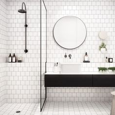 Make your bathroom the living room for one with little luxuries you can enjoy every morning and every night ◼️ pic source unknown  #modernabad