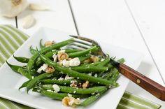 Fabulous green beans, walnut and feta recipe #sheknows