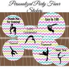 Gymnastics Party FavorsGymnastics Party Favor by lilrocknparty, $6.50