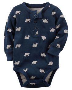 Baby Boy Animal Print Henley Bodysuit | Carters.com... - Baby Boy Animal Print Henley Bodysuit | Carters.com - http://progres-shop.com/baby-boy-animal-print-henley-bodysuit-carters-com/