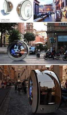 Vitaly Kononov is a Russian designer whose experience of narrow cobblestone streets has yielded a remarkable vehicle sure to avoid gathering moss as it zips in and out of urban traffic. Elegant simplicity at its best, the so-called Rolling Stone car uses two large wheels that span the entire circumference of the slim and efficient circle-shaped automobile, neatly looking like one smooth integrated wheel.