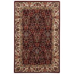 Persian Arts Burgundy (Red) 3 ft. 6 in. x 5 ft. 6 in. Area Rug