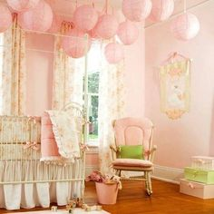 Floral Pink Baby Girl Bedroom : Stunning Baby Girl Bedroom Gallery | DesignArtHouse.com - Home Art, Design, Ideas and Photos