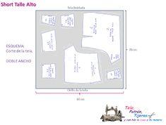SHORTS DE TALLE ALTO - DIY CON PATRONES GRATIS | Manualidades
