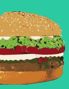 burger pop art