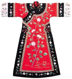Mandarin gown, embroidery Qing dynasty (18th-19th century AD) China National Silk Museum, Hangzhou