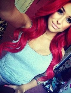 Latest hair color trends for women Hair Colorful, Bright Red Hair, Red Hair Color, Magenta Red Hair, Hair Colours, Pretty Hairstyles, Girl Hairstyles, Updo Hairstyle, Wedding Hairstyles