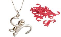 Seriously, what could be more fun than a barrel of monkeys? This necklace! Cast…