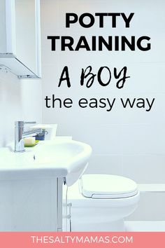 Let's face it- potty training a boy is just DIFFERENT. If you need some unique potty training tips for toddlers, you've come to the right place. Get it done fast (and with less stress) by following these potty training hacks from TheSaltyMamas.com. #pottytraining #potty #boy #boymom #toddlers #kids #parenting #toddler #toddlerboy