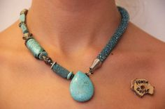 Handmade turquoise necklace / elegant necklace / mediterranean jewelry art / handmade in Bodrum / free shipping