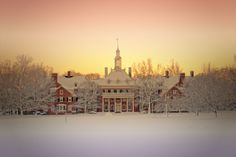 Gorgeous photo of a snow covered MacCracken Hall taken by Miami University junior, Mike Zatt.