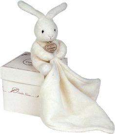 Doudou et Compagnie 10 cm Natural Rabbit and Towelling Doudou with Gift Box: Amazon.co.uk: Baby