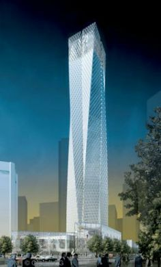 Jinling Tower Design Concept, Nanjing, China by  Skidmore Owings & Merrill (SOM) Architects :: 88 floors, height 320m