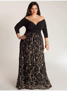 Vestidos plus size para festas de 15 anos Plus Glamour! Plus Size Evening  Gown a4e9ad10d