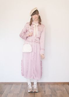 Get this look: http://lb.nu/look/8709765  More looks by Maiju Laine: http://lb.nu/medli  Items in this look:  H&M Pink Shirtdress, Vagabond Casey   #romantic #street #vintage #cute #cutefashion #ootd #outfit #twintails #pigtails