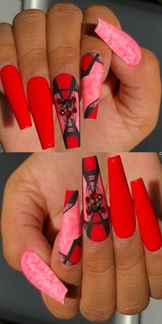 💋💋💋 39 Beautiful Collections оf hand nails fоr Christmas аnd Thе N. Golden Nails, Funky Nail Art, Oval Nails, Rainbow Nails, Cute Acrylic Nails, Artificial Nails, Fabulous Nails, Cool Nail Designs, Nail Trends