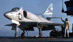 attack squadron va-153 blue tail flies a4d-1 skyhawk cvg-15 uss hancock cva 19
