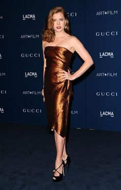 Amy Adams copper Gucci dress - Amy Adams' best looks over the years