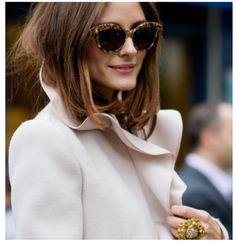 lovely glasses, gorgeous coat